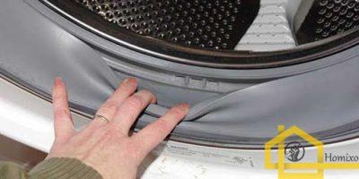 تمیز کردن لاستیک درب لباسشویی
